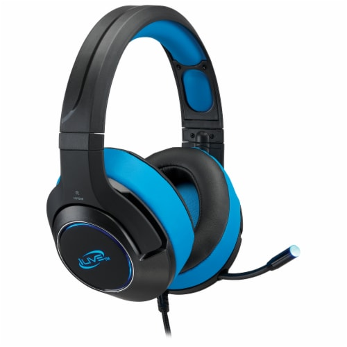 iLive G49B Gaming Headphones - Black/Blue Perspective: left