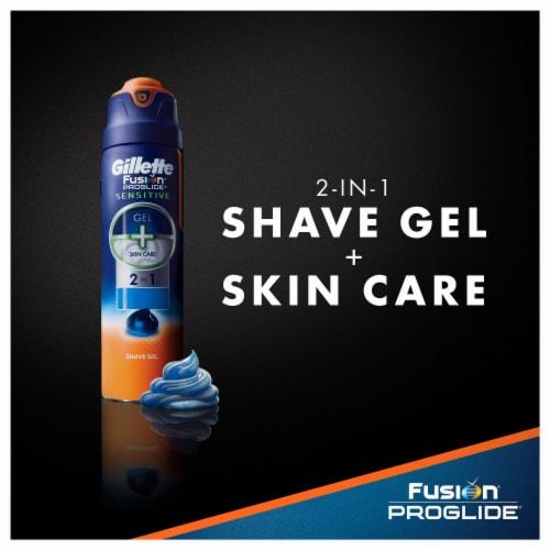 Gillette Fusion ProGlide Sensitive 2-in-1 Active Sport Shave Gel Perspective: left