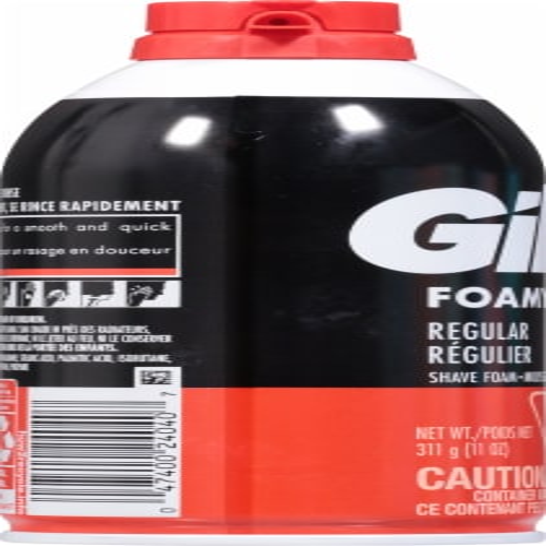 Gillette® Foamy Regular Shave Foam Perspective: left