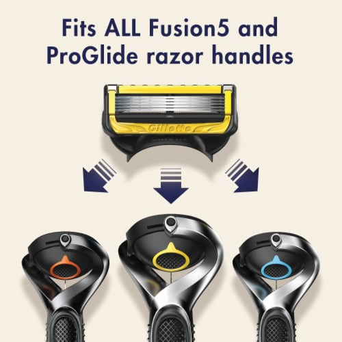 Gillette® ProGlide Shield Men's Razor Blade Refill Cartridges Perspective: left