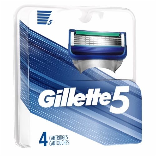 Gillette 5 Refill Cartridges Perspective: left