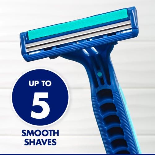 Gillette® Sensor2 Plus Lubrastrip Pivot Men's Disposable Razors Perspective: left