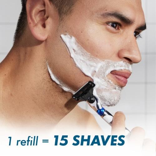 Gillette® Mach3 3D Men's Razor Handle + Blade Refill Cartridges Perspective: left