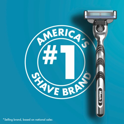 Gillette® Mach3 Razor and Cartridges Perspective: left