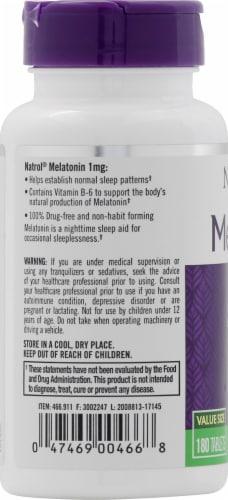 Natrol Melatonin Sleep Supplement Tablets 1mg Perspective: left