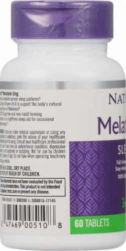 Natrol Melatonin Tablets 3mg Perspective: left