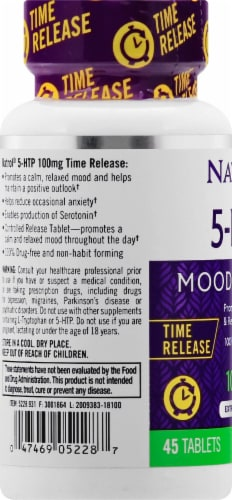 Natrol 5-HTP Time Release 100mg Perspective: left