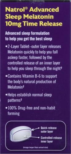 Natrol Advanced Sleep Maximum Strength Melatonin Tablets 10mg Perspective: left