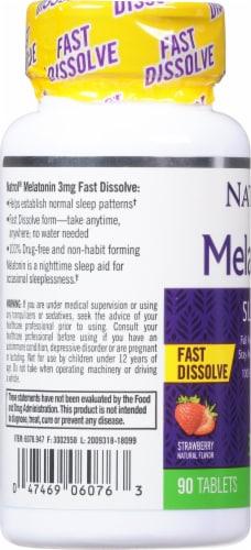 Natrol Melatonin 3mg Supplement Perspective: left