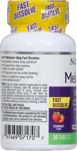 Natrol Strawberry Melatonin Sleep Tablets 10mg Perspective: left