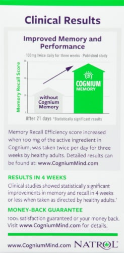 Natrol Cognium Brain Health Dietary Supplement Perspective: left