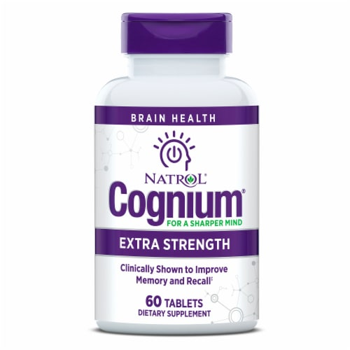 Natrol Cognium Extra Strength Tablets Perspective: left