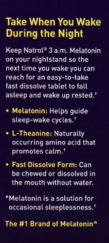 Natrol 3 a.m. Melatonin Tablets 30 Count Perspective: left