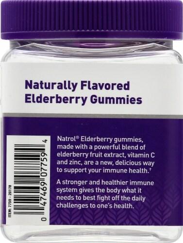 Natrol® Elderberry Immune Health Gummy Dietary Supplement Perspective: left