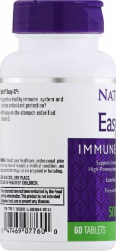 Natrol Easy-C Tablets 500mg Perspective: left