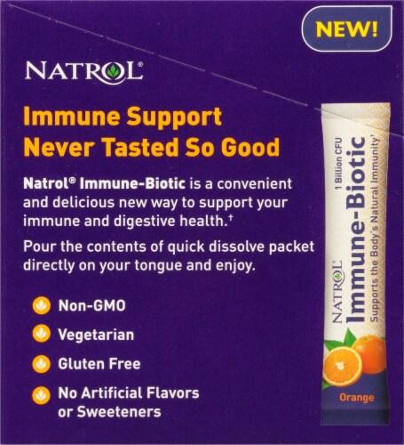 Natrol Orange Immune-Biotic Packs Perspective: left