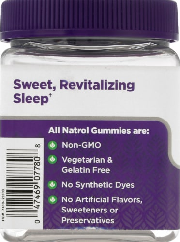 Natrol Sleep + Immune Health Berry Gummies Perspective: left