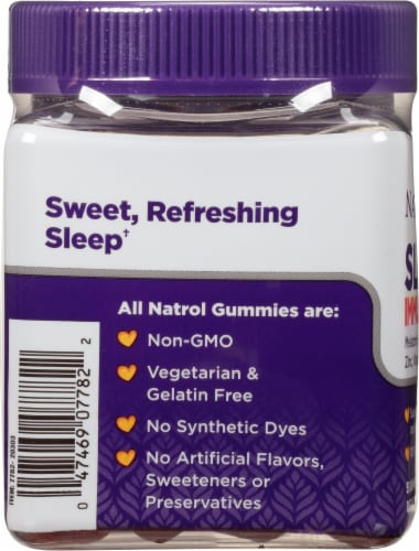 Natrol Kids Sleep + Immunity Berry Gummies Perspective: left
