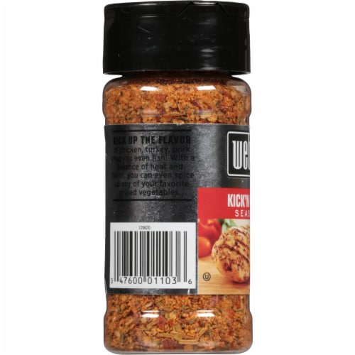 Weber Kick'n Chicken Seasoning Shaker Perspective: left
