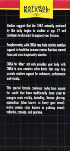 Natural Balance DHEA for Men Perspective: left