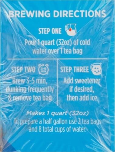 Luzianne Cold Brew Black Tea Bags 22 Count Perspective: left