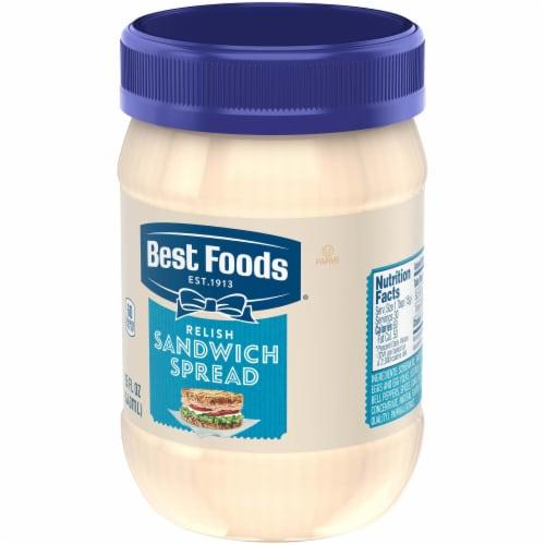 Best Foods Relish Sandwich Spread Perspective: left