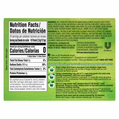 Knorr Mi Arroz Red Rice Seasoning Mix 4 Count Perspective: left