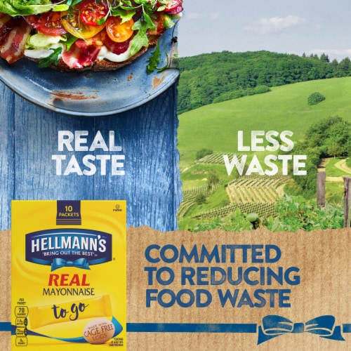 Hellmanns Real Mayonnaise To Go Packets Perspective: left