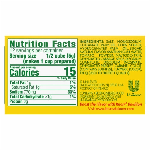 Knorr Vegetarian Vegetable Bouillon Cubes Perspective: left