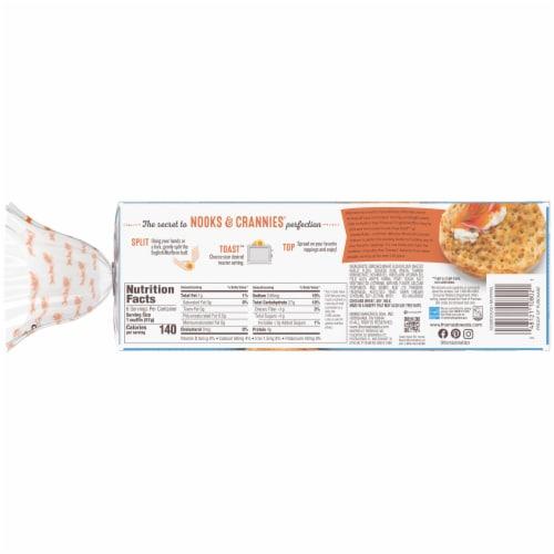 Thomas' Nooks & Crannies Sourdough English Muffins Perspective: left
