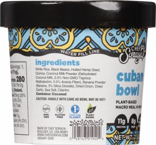Chef Soraya Eat a Bowl Cuba Black Beans & Rice Perspective: left