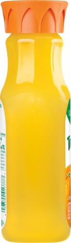 Tropicana Orange Juice Homestyle Some Pulp Bottle Perspective: left