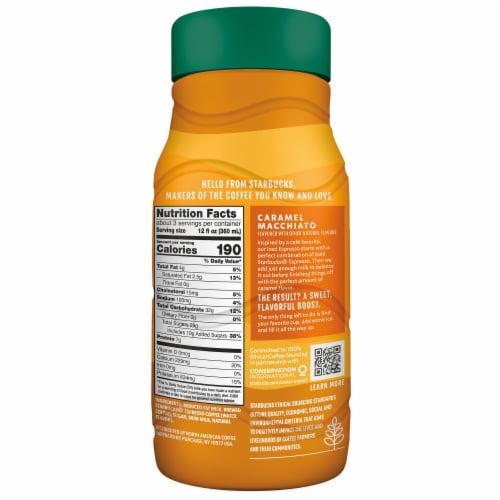 Starbucks Iced Caramel Macchiato Chilled Espresso Coffee Bottle Perspective: left