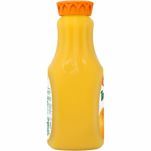 Tropicana Orange Juice No Pulp 52 oz Bottle Perspective: left