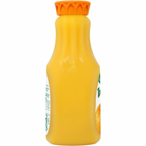 Tropicana Orange Juice Homestyle Some Pulp 52 oz Bottle Perspective: left