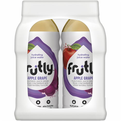 Frutly Apple Grape Hydrating Juice Water Perspective: left