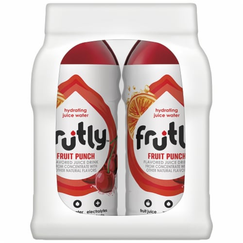 Frutly Fruit Punch Hydrating Juice Water Perspective: left