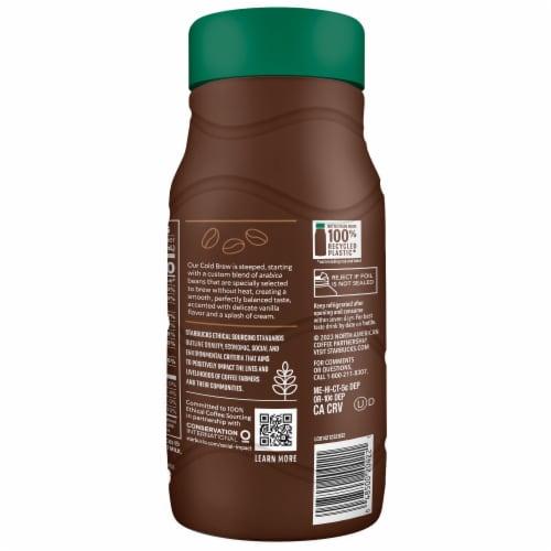 Starbucks Vanilla Sweet Cream Cold Brew Premium Coffee Beverage Perspective: left