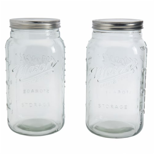 Mason Craft & More Glass Canister - Clear Perspective: left