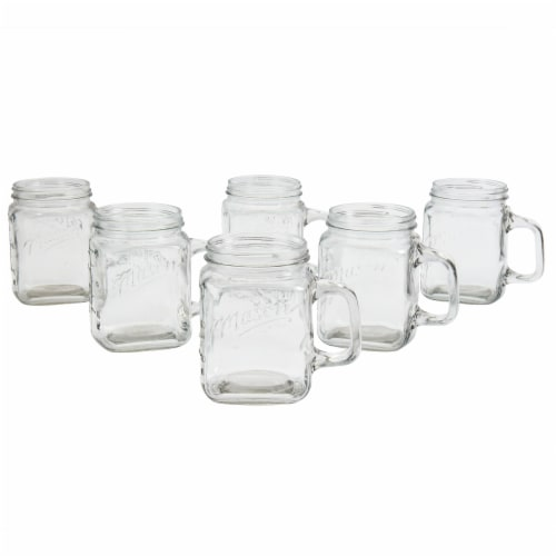 Mason Craft & More Glass Mug with Handle - Clear Perspective: left
