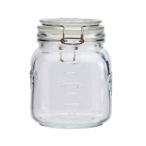 Tabletops Unlimited Mason Glass Clamp Jars Perspective: left