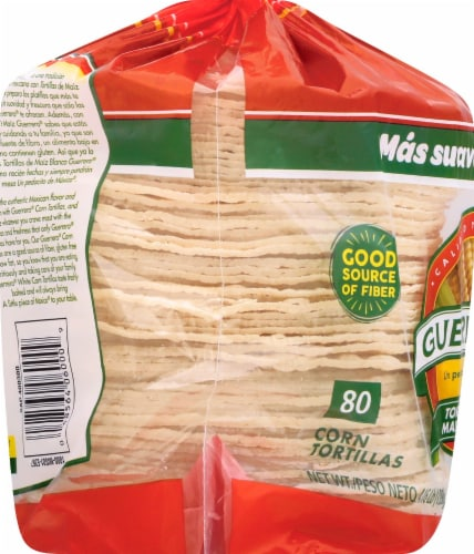 Guerrero White Corn Tortillas 80 Count Perspective: left