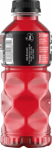 Powerade Fruit Punch Electrolyte Enhanced Sports Drink Perspective: left