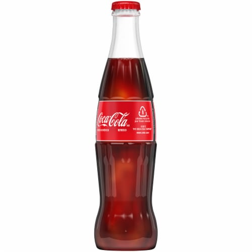 Coca-Cola Glass Bottle Soda Perspective: left