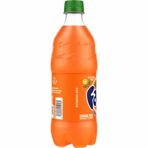 Fanta Orange Flavored Soda Perspective: left
