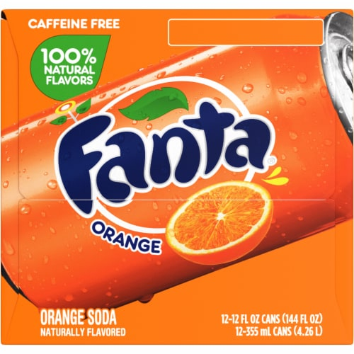 Fanta Orange Soda Fridge Pack Perspective: left