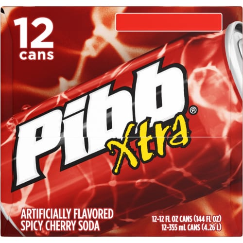 Pibb Xtra Spicy Cherry Soda Perspective: left