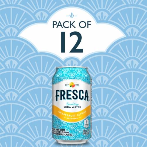 Fresca Grapefruit Citrus Sparkling Soda Water Perspective: left