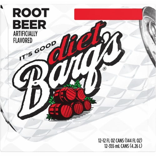Barq's Diet Root Beer Soda Perspective: left