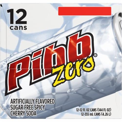 Pibb Zero Sugar Free Spicy Cherry Soda Perspective: left